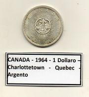 Canada - 1964 - 1 Dollaro - Charlottetown - Quebec - Argento - (MW1209) - Canada