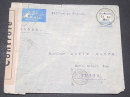 PALESTINE - Enveloppe De Jérusalem Pour Alger En 1941 Avec Contrôle Postal - L 14333 - Palestine