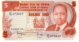 Kenya P.19 5 Shillings 1982  Unc - Kenya