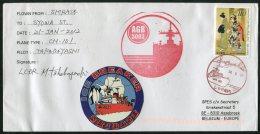 2012 Japan Antarctic Ice Breaker SHIRASE Polar Ship Penguins Cover SIGNED - 1989-... Emperor Akihito (Heisei Era)