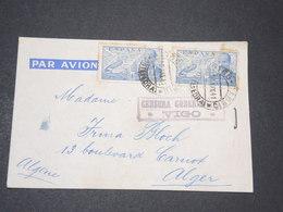 ESPAGNE - Enveloppe De Vigo Pour Alger En 1941 , Censure De Vigo - L 14339 - Marcas De Censura Nacional