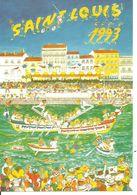 Carte Postale Illustrateur Sète Cette (34) Hérault Les Joutes Saint Louis 1993 Canal Royal Jouteur Jouteurs Joute Sétori - Sete (Cette)