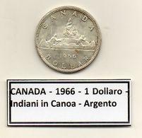 Canada - 1966 - 1 Dollaro - Indiani In Canoa - Argento - (MW1212) - Canada