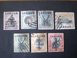 Malaysia LABUAN 1900 -1902  Not Issued North Borneo Stamps Overprinted Postage Due - Gran Bretaña (antiguas Colonias Y Protectorados)