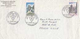 FRANCE - LETTRE Lt COLONEL R. HOLDER GENDARMERIE D'ALSACE - CACHET CONCLAVE G.AL ORDRE ROSICRUCIEN 29.3.1979 STR/ TBS - Cartas
