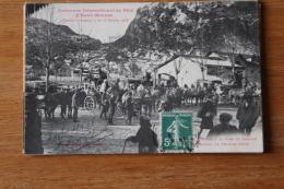 Cpa   Pyrénées Eaux Bonnes   Concours  1908   Arrivée à La Gare De Laruns - Eaux Bonnes