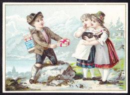 CHROMO Chocolat SUCHARD   +/- 1889         Serie 14   Suisse  Schweiz     Lith. Hermann Schött, Rheydt      Trade Card - Suchard