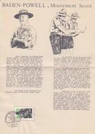 FRANCE - FEUILLE BADEN-POWELL MOUVEMENT SCOUT - CACHET 1er JOUR  20.2.1982 LILLE 59  / TBS - Scoutisme