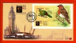 RSA, 2000, Mint F.D.C., MI 6-115, Block 80 London Stamp Show (Bird) - South Africa (1961-...)