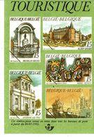 Fiche Publicitaire  Timbre    2468 à 2472 - 2485(2 Couleurs Differente) 2501 à 2502 - Belgique