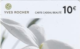 Carte  Cadeau ##  YVES  ROCHER  ##   (FRANCE) Gift Card, Giftcart, Carta Regalo, Cadeaukaart - Gift Cards