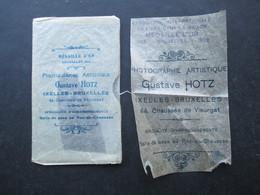 PHOTOGRAPHE BELGIQUE (M1805) GUSTAVE HOTZ (2 Vues) 2 Documents Sur Calques - Ohne Zuordnung