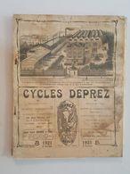 1921 Catalogue Cycles Deprez Armes (Fusil Revolvers) Lampes Lanternes Gramophone - Bicyclette, Canne Fusil - Publicité