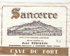 Étiquette  SANCERRE  André ROBINEAU - Andere
