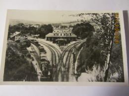 "Photocarte FIGEAC (46)  La Gare  -vue Intérieure  ""avec Train"" - Figeac"