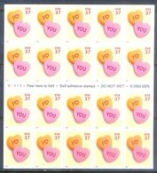 A184- USA United States Self Adhesive Stamps. I Love You. Hart. - United States