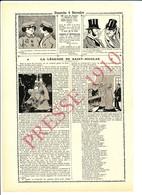 2 Scans Presse 1910 La Légende De Saint-Nicolas (Père Fouettard Lorraine Jeannot Lapin Musique Orgue De Barbarie 216CH5 - Vieux Papiers