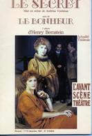 L' Avant Scéné Théâtre - Le Secret - Le Bonheur - - Auteurs Français