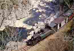 Trains - Chemin De Fer Du Vivarais - Ligne Tournon-Lamastre - Le Train Dans Les Gorges Du Doux - Voir Scans Recto-Verso - Trains