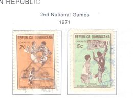 Rep.Dominicana PO 1971 2° Nat.Games  Scott.680+681+Used +See Scans On Scott.Pages - Dominican Republic
