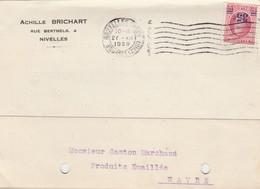 Nivelles ,carte Publicité, ACHILLE BRICHART ,Rue Berthels ,4 (cuvette Et Casserole ) - Nivelles