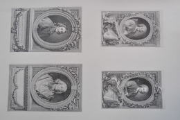 GRAVURES 599 - 602 / PORTRAITS DE J.J. ROUSSEAU - FENELON - BOSSUET Par ETIENNE FIQUET Né à PARIS En 1919 - Prints & Engravings