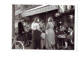 Cpm - 75 - PARIS - Saint-Germain-des-Prés - Café De Flore - Animation Terrasse - Vélo Bicyclette Robert Doisneau - Cafés, Hotels, Restaurants