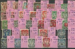 """Danzig 126X-246 """"28 Briefmarken Im Lot,  Wie Im Bild Sichtbar """" Gestempelt Mi.: Ca.65,00 - Danzig"""