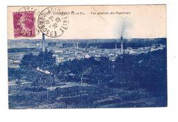 91 Corbeil Essonnes Vue Générale Des Papeteries Cachet 1933 - Corbeil Essonnes