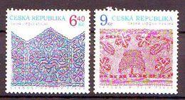 Czech Republic  Folk Crafts (Lace). 2v: 6.40, 9 Kc Mnh - Repubblica Ceca