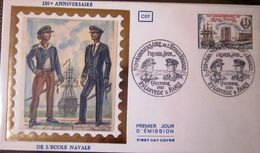 France FDC - 1981 - Ecole Navale - Bateaux - Lanveoc - FDC