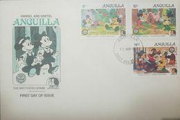 L) 1985 ANGUILLA, THE BROTHERS GRIMM BICENTENARY, HANSEL Y GRETEL, DISNEY, MICKEY, MINNIE, NATURE, CARTOON, FULL COLORS, - Anguilla (1968-...)
