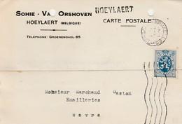 Hoeylaert, Griffe Linéaire, Cachet  Bruxelles ,carte Publicité , Sohie - Van Orshoven - Griffes Linéaires