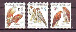 Czech Republic  Birds Of Prey. 3v: 6.50, 8, 9 Kc Mnh - Repubblica Ceca