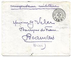 CM 16  Correspondance Militaire Du 30-11-14 Cachet Trésor Et Postes Double Cercle N°166 QG Du 2ème Corps D'Armée - Marcofilie (Brieven)