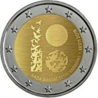 Estland  2018     2 Euro Commemo   100 Jaar Republiek      UNC Uit De Rol  UNC Du Rouleaux  !! - Estonia