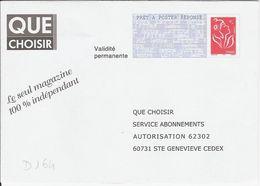 D164 - Entier / Stationery / PSE - PAP Réponse Lamouche - Que Choisir - Agrément 06P305 - Entiers Postaux