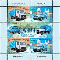 Belarus 2013 Mih. 950/51 (Bl.100) Europa-Cept. Postal Vehicles MNH ** - Belarus