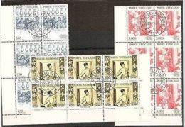 1988 Vaticano Vatican PAOLO VERONESE 6 Serie Di 3v. In Blocco Usate Ann.FDC - Vatican