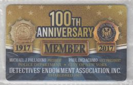 USA DETECTIVES ENDOWMENT ASSOCIATION POLICE DEPARTMENT NEW YORK MEMBER CARD - Other Collections