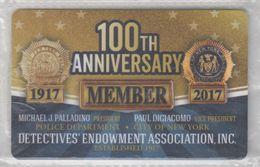 USA DETECTIVES ENDOWMENT ASSOCIATION POLICE DEPARTMENT NEW YORK MEMBER CARD - Andere Verzamelingen