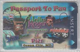 USA JOLLY ROGER AMUSEMENT PARK PASSPORT TO FUN OCEAN CITY - Andere Verzamelingen