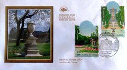 FRANCE 3673 Et 3674 FDC Premier Jour Jardins De France Tuileries Et Parc Floral à Paris - FDC