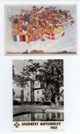 LOT 2 CPSM SCOUTS DE FRANCE 6IEME JAMBOREE SAVOIE 1947 + JAMBVILLE 1961 VOIR DETAILS - Movimiento Scout