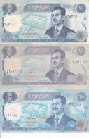 IRAQ 100 DINARS 1994 P-84a1 P-84a2 P-84b LOT 3 UNC NOTES SET - Iraq