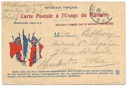 CM 29 Correspondance Militaire Du 23-02-15 Cachet Trésor Et Postes Simple Cercle N°(SP)5 QG De La 4ème Armée,2ème Groupe - Marcophilie (Lettres)