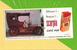 Buvard & Blotting Paper :Café Pur SCARPIA  Modele N°8 Martin Le Timonnier 1904 - Café & Thé