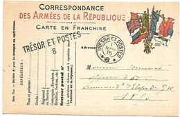 CM 34 Correspondance Militaire Du 1-11-15 Cachet Trésor Et Postes Double Cercle Et Griffe Linéaire N°(SP)8 QG De La 2ème - Poststempel (Briefe)