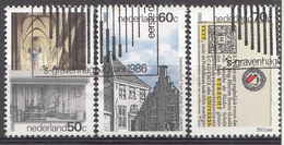 Pays-Bas 1986  Mi.nr: 1294-1296 Jahresereignisse In Utrecht  Oblitérés / Used / Gestempeld - Periode 1980-... (Beatrix)