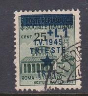Venezia Giulia And Istria 1945 Yugoslav Trieste Occupation S2 1l On 25c Green Used - Yugoslavian Occ.: Trieste